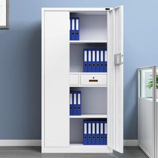 金经金属电子保密柜铁皮柜档案柜钢制密码锁文件柜办公柜暖白通体柜