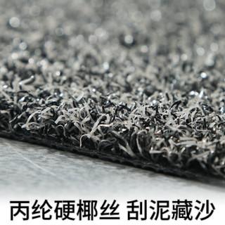 大江 入户门垫刮泥垫蹭土地垫家用地毯脚垫门外垫子 经典灰57*87cm