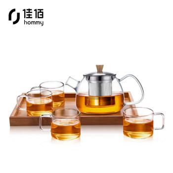 hommy 佳佰 佳佰 玻璃茶具套装 600ml