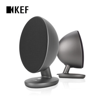 KEF EGG SE升级版 无线桌面立体声音响 蓝牙多媒体音箱 2.0数字音响 灰色