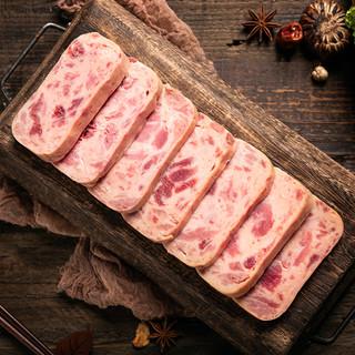 小猪呵呵网红火腿猪肉罐头198g*3罐速食大块火腿火锅户外即食
