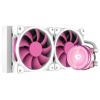ID-COOLING ZOOMFLOW PINKFLOW 240一体式水冷散热 白光粉色