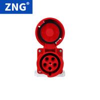 ZNG 380V5孔125a明装工业防水插座 三相五线125a5p大功率工业插座 ZNG-145