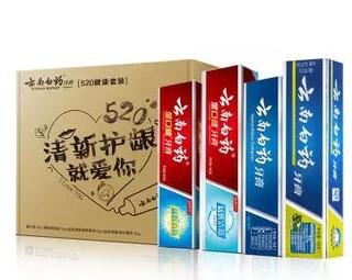 YUNNANBAIYAO 云南白药 520健康牙膏4支套装(留兰120g+薄荷150g+益优薄荷145g+益优冰柠105g) *2件
