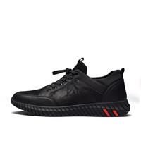 富贵鸟(FUGUINIAO)时尚潮流男士休闲鞋系带舒适百搭青年A801057黑色 38