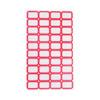 浩立信(LISON)403红色*50张 28*19mm(40枚/张) 不干胶粘纸贴 标签贴纸 自粘性标贴纸 口取纸 口曲纸