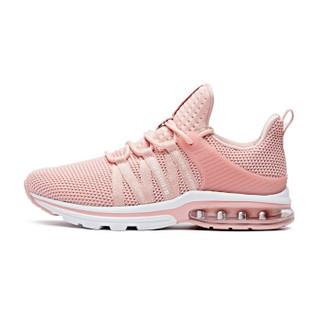 乔丹 女鞋轻便休闲鞋气垫减震跑步鞋 XM2690205 藕粉色/白色 37.5