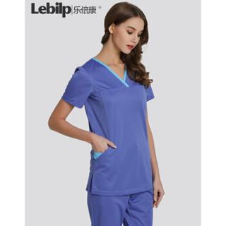 乐倍康(Lebilp)手术衣短袖洗手衣透气贴肤刷手服工作服护士服 深紫兰(男女同款) M