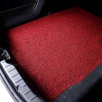 布雷什(BOLISH) 丝圈后备箱垫通用型可裁剪 家用大尺寸环保加厚耐磨丝圈门厅地垫 120CM*100CM 黑红色