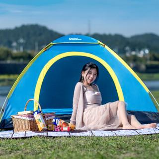 京东PLUS会员 : 埃尔蒙特ALPINT MOUNTAIN 速开全自动手抛帐篷户外双人家庭套装双人野营露营  蓝色