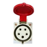 ZNG 380V16a5p欧标工业插头插座 三相五线5孔16a明装工业插座 5个装ZNG-115