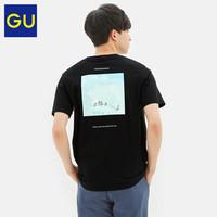 GU极优男装印花T恤(短袖)DORAEMON哆啦A梦2020夏季新款纯棉323530
