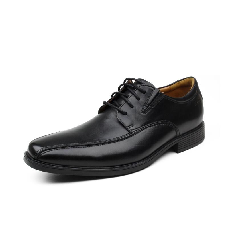 Clarks Tilden Walk 男士休闲皮鞋 黑色 US7