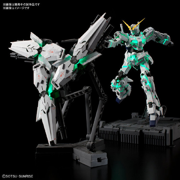 玩模总动员、新品预定:BANDAI 万代 MGEX 1/100 独角兽高达 Ver.ka(3浮游盾+格纳库+LED发光组)