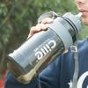 希乐 超大容量水杯 成人吸管杯男女便携运动水壶户外健身太空杯学生夏天旅行塑料水瓶简约防摔水桶2000ml