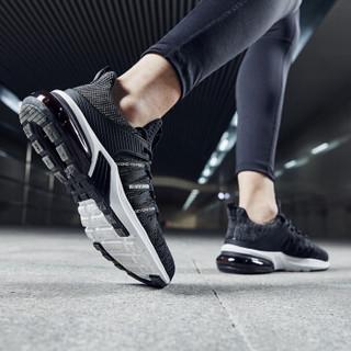 乔丹 男鞋轻便休闲鞋气垫减震跑步鞋 XM2590205 黑色/鲨鱼灰 41