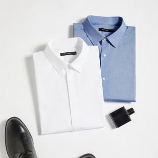 高级商务感,男式易清洗免烫短袖衬衫