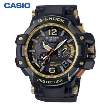 卡西欧(CASIO)手表 G-SHOCK 航空系列 男士防震太阳能运动手表 电波石英表 GPW-1000GB-1A