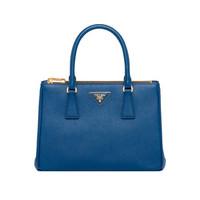 普拉达 PRADA  19秋冬女士Galleria系列小牛皮蓝色小号手袋 1BA863VOOO-NZV-F0016