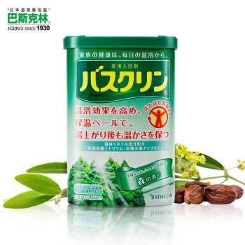 巴斯克林(Bathclin)温热香浴盐(森林香)690g(日本进口足浴泡浴盐) *3件