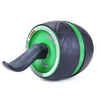 凯速KANSOON健身器材自动回弹健腹轮美版宽轮健腹器桶形腹肌轮健腹滚轮CP27亮绿色