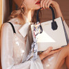 拉菲斯汀(La Festin)韩版牛皮手提包时尚百搭凯莉包简约单肩斜跨包大容量女士包包 Y819959炫雅白