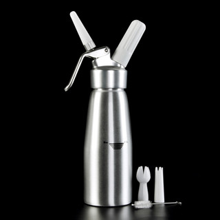 欧烹奶油发泡枪 手动diy自制打奶器铝制奶油发泡器奶泡器裱花枪