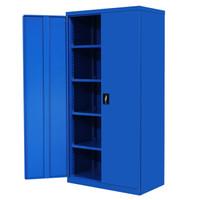 奈高重型工具柜整理柜车间工具收纳箱带挂板铁皮柜钢制资料柜1800*900*500款式一