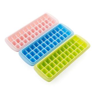 克来比 冰格速冻器33格冻冰块模具制冰盒冻冰家用冰箱自制冰块神器 KLB1131 粉色 2个装