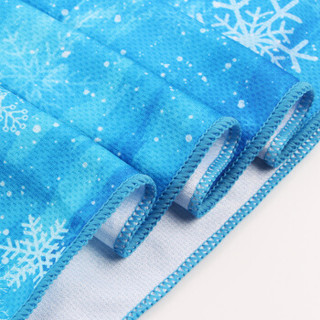 靓健冷感运动毛巾 健身凉爽降温消暑巾 吸汗速干冰凉毛巾120*30cm酷冷雪花
