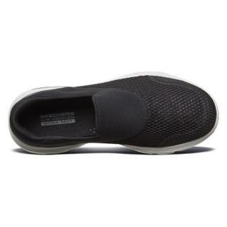 Skechers斯凯奇官方 新款GO WALK男子透气网布休闲鞋懒人一脚套健步鞋54753 黑色/白色/BKW 41
