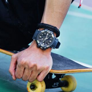 天美时TIMEX手表TW5M22600男士户外运动夜光防水防震多功能计时码表学生电子表