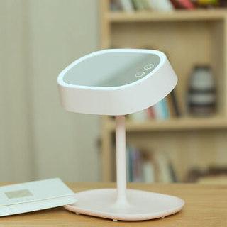 乾越(qianyue)生日礼物情人节礼物送女生创意化妆镜台灯可调节浪漫实用礼物送老婆创意化妆镜白色