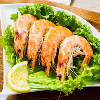 大洋世家 冷冻原装进口秘鲁白虾40/50 净重1.4kg 大号虾 生鲜海鲜水产