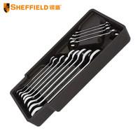 钢盾 SHEFEIELD S025024  12件套双开口扳手组合 维修扳手套装 机修开口扳手