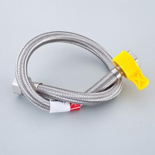 贝乐卫浴(Ballee) D59 60CM冷热水通用软管 面盆马桶进水管 带手拧器