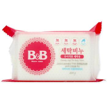 运费券收割机:B&B 保宁 婴幼儿洗衣皂 洋槐味 200g/个 *2件