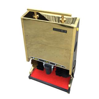 聚远 JUYUAN SDJN03 擦鞋机器自动全自动擦鞋机公用酒店电动感应大堂钛金刷鞋机器