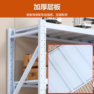 佐盛仓储货架置物架储物架超市仓库库房展示架中型2米白色四层主架
