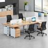 卡奈登 现代时尚办公家具职员办公桌 办公屏风隔断卡位简约员工4人位含柜2.4x1.2*0.75米 XYJ0606