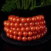 欧采妮 南红手串 樱桃红玛瑙手链108颗佛珠项链多圈女款凉山联合料 6mm N71124-2