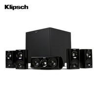 杰士(Klipsch) HDT-600 家庭影院 5.1电视音箱 卫星式影院 组合音响 客厅影院 套装(sub-8II有源低音炮)