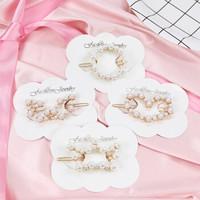 优家(UPLUS)小香风镂空仿珍珠发夹4件套套装(边夹碎发夹刘海夹鸭嘴夹 日韩发饰)