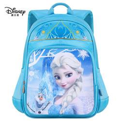 迪士尼小学生书包女 冰雪奇缘1-3年级儿童书包 FP8012B蓝色