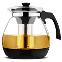 金熊 1200ml无铅耐热玻璃茶壶功夫茶具304不锈钢过滤内胆泡茶壶JT107-2
