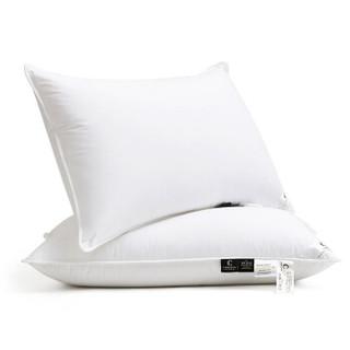 康尔馨 世茂希尔顿授权款 五星级酒店羽绒枕头枕芯 90%白鹅绒软枕 74*48cm