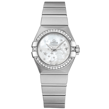 OMEGA 欧米茄 Constellation星座系列 123.15.27.20.05.001 女士机械手表 27mm 白盘 银色不锈钢表带 圆形