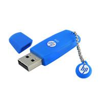 惠普 (HP)32GB USB2.0 U盘 v188w 蓝色 学生可爱电脑车载两用创意优盘