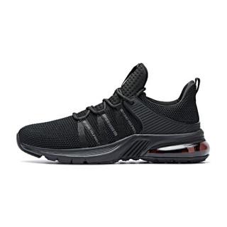 乔丹 男鞋轻便休闲鞋气垫减震跑步鞋 XM2590205 黑色 40