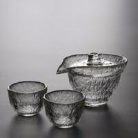 kavar 米良品 初雪锤纹茶具套装 1个盖碗+2个茶杯